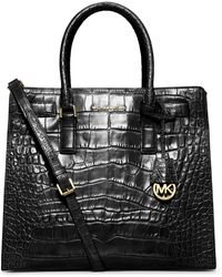 Michael Kors Dillon Large Crocodile Pattern-embossed Leather Tote - Lyst