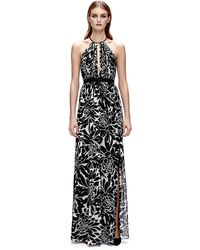 Jill Jill Stuart Floral Print Silk Open Back Gown - Lyst