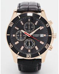 Sekonda Chronograph Mock Croc Leather Strap Watch - Lyst