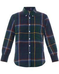 Band Of Outsiders Plaid Slim-fit Shirt - Lyst