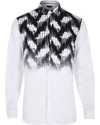 River Island White and Black Zig Zag Fade Print - Lyst