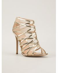 Gianvito Rossi Strappy Stiletto Sandals - Lyst