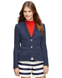 Brooks Brothers Cotton Knit Blazer - Lyst