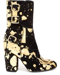 Laurence Dacade Suede Merli with Gold Paint Spatter - Lyst