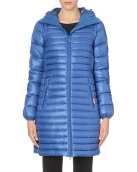 Hunter Hooded Long Quilted Jacket - Lyst