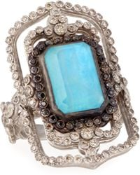 Armenta New World Open Rectangle Turquoise Ring - Lyst