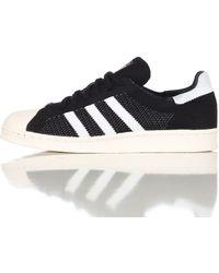 Adidas | Superstar 80s Primeknit In Core Black | Lyst