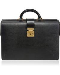 Vintage Louis Vuitton Serviette Fermoir Briefcase - Lyst
