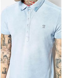 Diesel Blue Polo Shirt - Lyst
