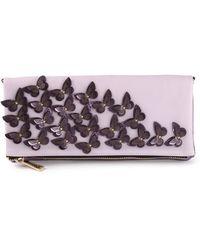 Pinko Butterfly Embellished Clutch - Lyst