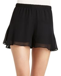 BCBGeneration Flirty Chiffon Shorts - Lyst