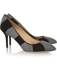 Charlotte Olympia Desirãe in Stripes Suede Pumps - Lyst