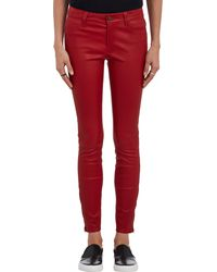 J Brand Leather Skinny Jeans - Lyst