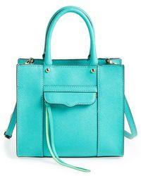 Rebecca Minkoff Women'S 'Mini Mab Tote' Crossbody Bag - Blue/Green - Lyst