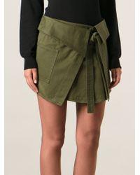 Isabel Marant Wrap Military Skirt - Lyst
