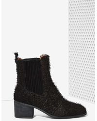 Nasty Gal Jeffrey Campbell Hunter Fuzzy Chelsea Boot - Lyst