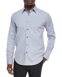 Theory Sylvain Steel Woven Sport Shirt - Lyst