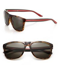 Gucci | 1118/s 57mm Mirror Rectangular Sunglasses | Lyst