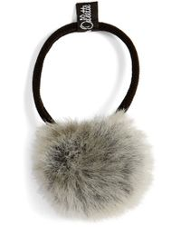 Jennifer Ouellette | Faux Fur Pompom Ponytail Holder | Lyst