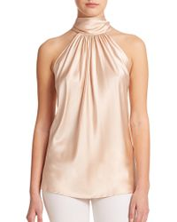 Ramy Brook Paige Silk Halter Blouse - Lyst