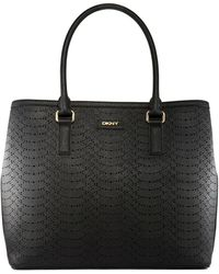 DKNY Saffiano Perforated Leather Tote - Lyst