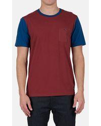 Volcom 'Jennings' Colorblock Pocket T-Shirt blue - Lyst