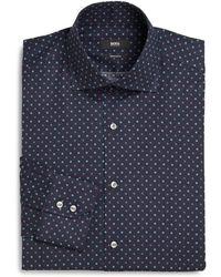 Boss by Hugo Boss Dot Print Dress Shirt - Lyst