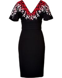 L'Wren Scott Embroidered Dress Stylebopcom Exclusive - Lyst
