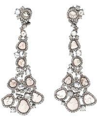 Saqqara - 'glacier' Diamond Earrings - Lyst