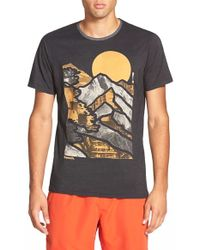Bench - 'mountain Lines' Graphic Crewneck T-shirt - Lyst