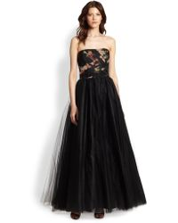 Notte By Marchesa Floralbodice Ball Gown - Lyst