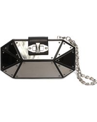 Alexander McQueen Octagonal Mirrored Box Clutch - Lyst