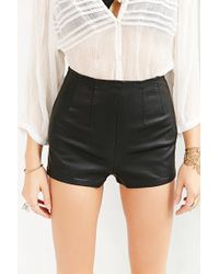 Pins And Needles - Faux-Leather Pin-Up Short - Lyst