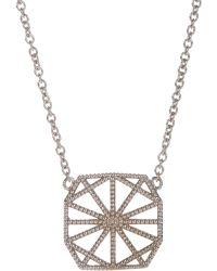 Grace Lee - White Gold Petite Deco Ii Necklace - Lyst