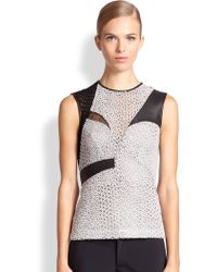 Yigal Azrouel Patchwork Top - Lyst