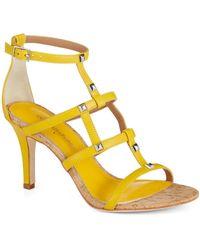 Donald J Pliner Thee Heeled Sandals - Lyst
