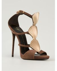 Giuseppe Zanotti Shell Detail Strappy Sandals - Lyst