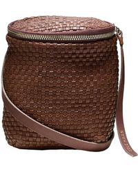 Cole Haan Woven Leather Crossbody Bag - Lyst