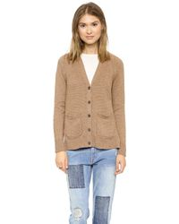 Madewell Solid Jillian Swing Cardigan  Marled Black - Lyst