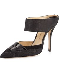 Paul Andrew High-Heel Leather Mule - Lyst