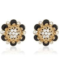 River Island Black and Diamante Flower Studs - Lyst