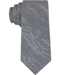 Calvin Klein Abstract Silvers Skinny Tie - Lyst