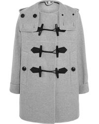 Burberry Brit - - Wool And Cashmere-blend Duffle Coat - Light Grey - Lyst