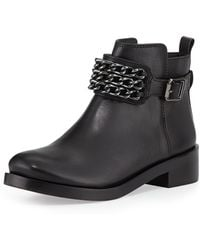 Tory Burch Bloomfield Chain Leather Bootie - Lyst