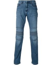 Neil Barrett Ribbed Detail Jeans - Lyst