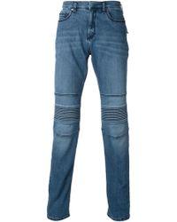 Neil Barrett Ribbed Detail Jeans - Lyst