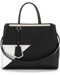 Fendi 2Jours Leather Tote - Lyst