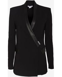 Helmut Lang Palm Suiting Seamed Blazer - Lyst