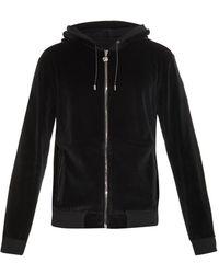Versace Medusa Hooded Velour Sweatshirt - Lyst