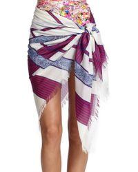 Etro Printed Wool & Silk Sarong - Lyst